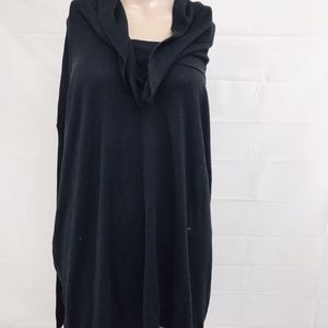 Cato Womens XL Cowl Neck Black Sweater Dress